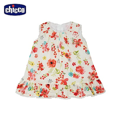chicco-春遊-花朵背心洋裝(12-24個月)