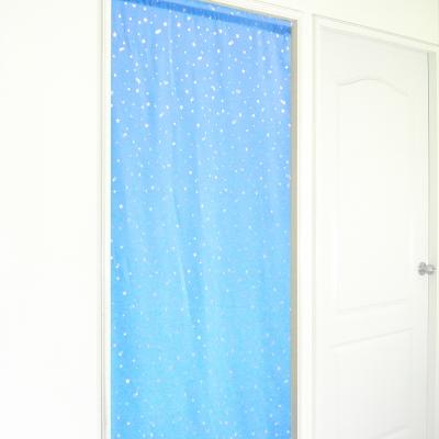 布安於室-銀色星空遮光長門簾-藍色-寬130x高180cm