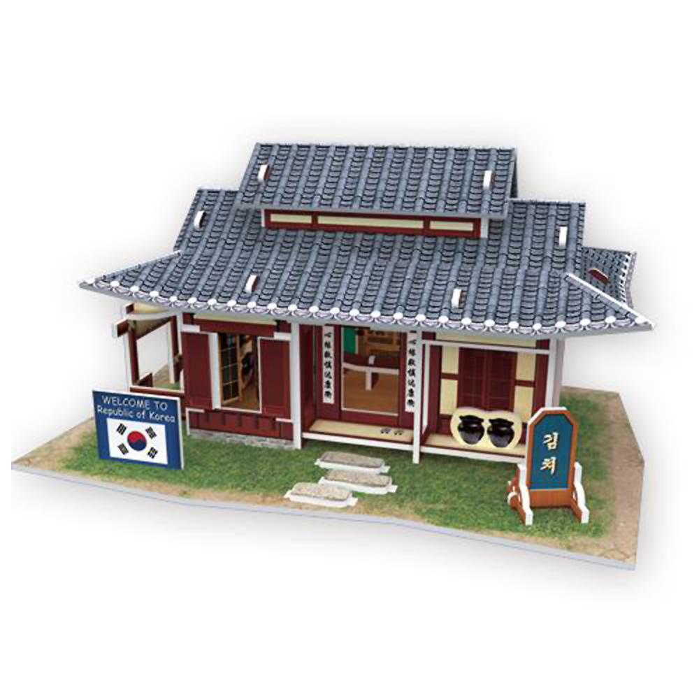 世界之窗 3D立體拼圖 韓國-泡菜屋 3D World Style