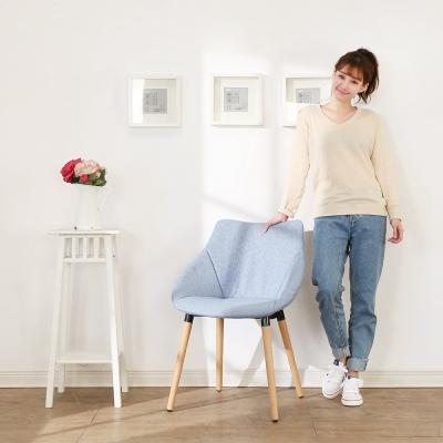 BuyJM蔚藍復刻實木腳休閒椅/餐椅45x39x81公分-免組
