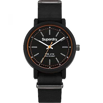 Superdry極度乾燥 質感簡約時尚手錶-黑/38mm