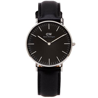 DW Daniel Wellington Sheffield手錶-黑面X黑色/36mm