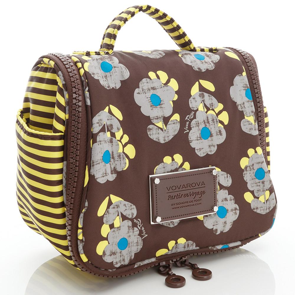 VOVAROVA空氣包-花園系列-秘密花園(咖啡)-旅行盥洗包