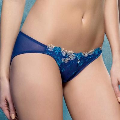 LADY 瑪格麗特系列 低腰三角褲(亮光藍)