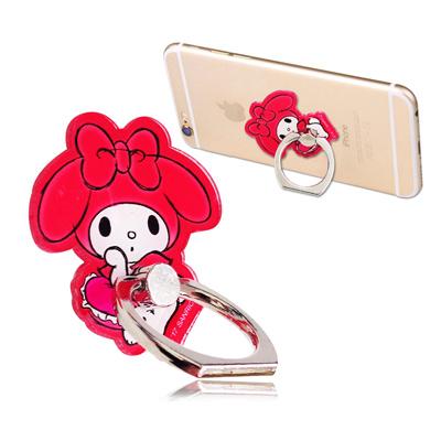 三麗鷗授權 My Melody 美樂蒂手機防摔造型指環扣 手機支架(抱枕)