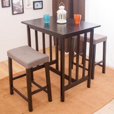 AS-貝蒂與芭布斯吧檯桌椅組-(一桌兩椅)-80x60x87cm