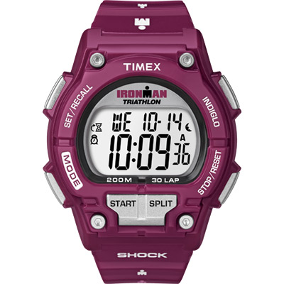 TIMEX 鐵人系列夏日炫彩運動腕錶-紫紅/45mm