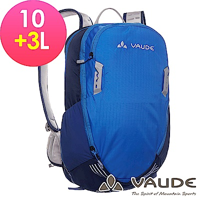 【ATUNAS 歐都納】德國VAUDE-10+3L網架透氣休閒背包VA-11940藍15