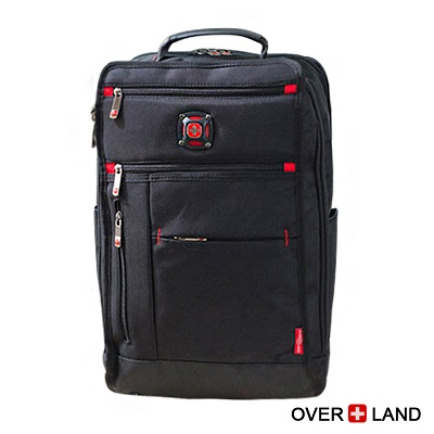 OVERLAND-美式十字軍x美式簡約設計多夾層後背包