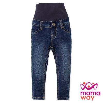 Mamaway Baby針織牛仔褲(刷白藍)