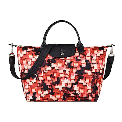 LONGCHAMP LE PLIAGE NEO VIBRATION系列手提斜背包(中/朱紅
