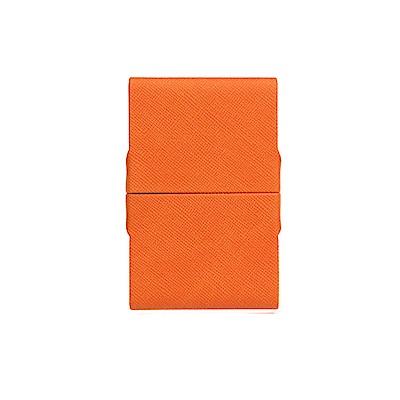 FEDON 1919 Classica經典皮面雙開名片夾-橘