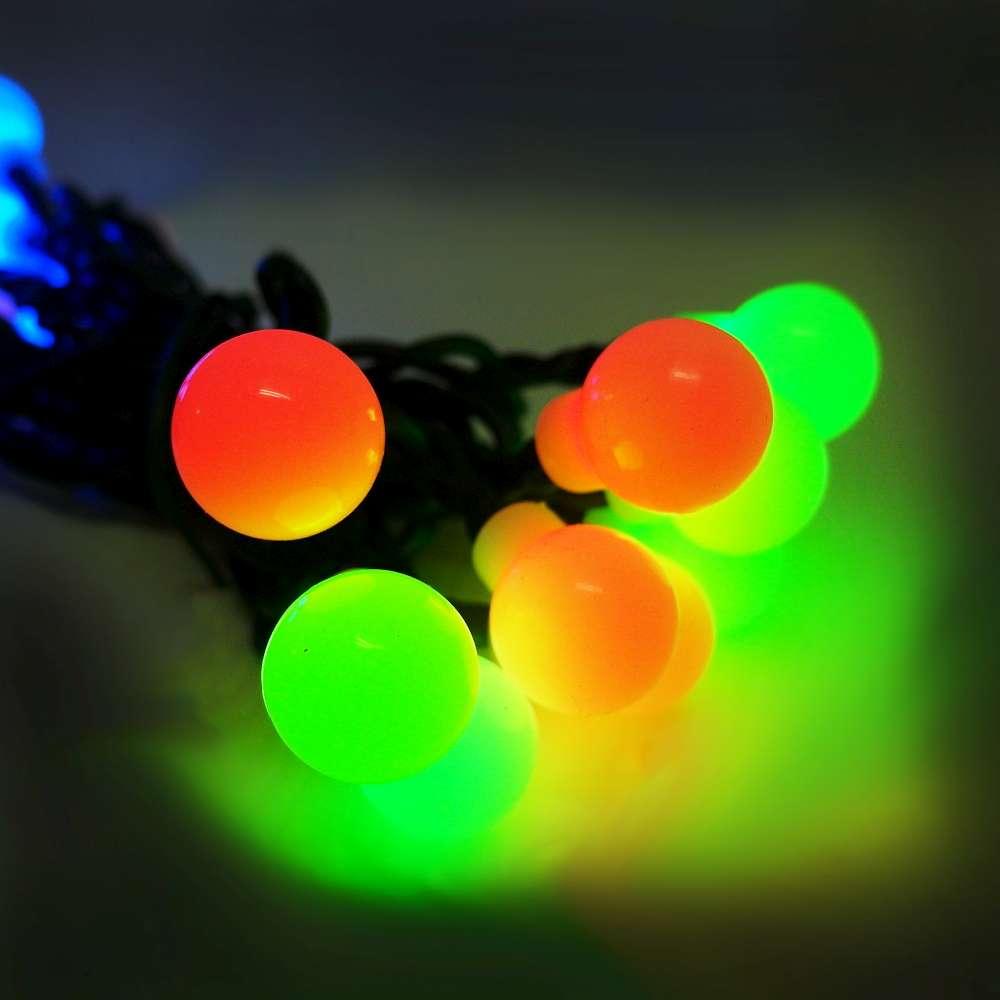 聖誕燈LED20燈珍珠造型燈(彩色光)(插電式/自動雙色雙閃)