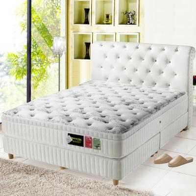MG珍寶-三線智慧涼感-乳膠抗菌蜂巢獨立筒床墊-雙人加大6尺