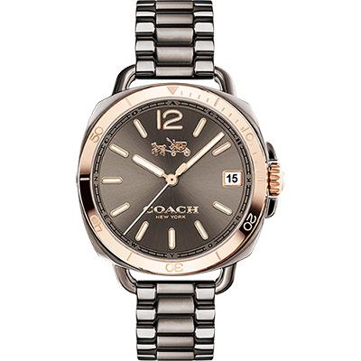 Coach 紐約摩登時尚腕錶-灰/34mm