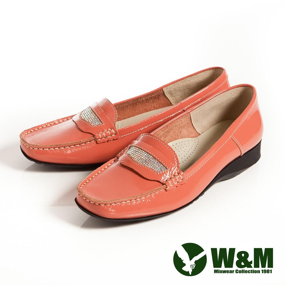 W&M 亮漆皮耀眼繽紛透氣軟墊休閒鞋-粉