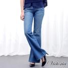 Victoria B.F寬靴型褲-女-中藍