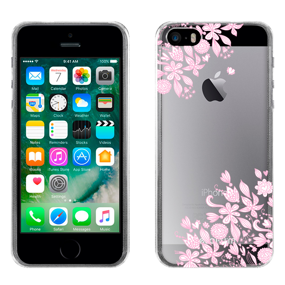 Metal-Slim Apple iPhone SE/5S/5 粉彩時尚TPU軟殼