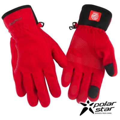 PolarStar 女防風保暖手套『紅』P16616