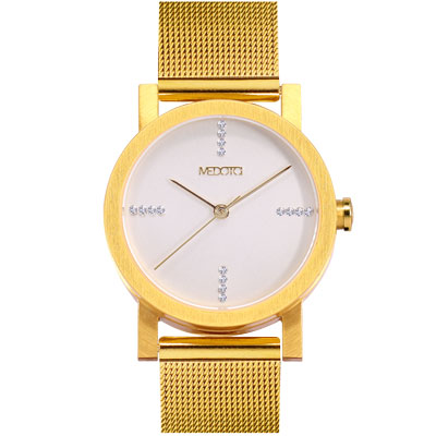 MEDOTA極簡輕薄手錶-奢華系列女錶金色30mm