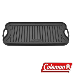 Coleman CM-21879 經典鑄鐵煎盤/雙面煎盤 鑄鐵鍋/適用413雙口爐