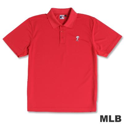 MLB-費城費城人隊開釦式POLO衫-紅(男)