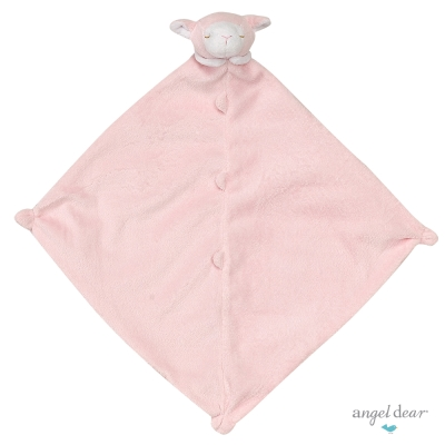 美國 Angel Dear 動物嬰兒安撫巾 (粉紅小羊)