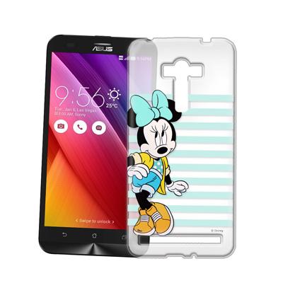 迪士尼 ASUS ZenFone 2 Laser 5.5吋 街頭透明軟式手機殼(俏米妮)