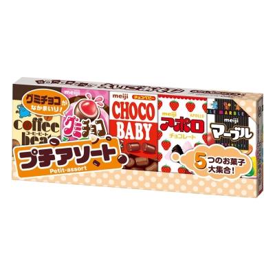 明治 代可可脂綜合巧克力-5小盒組(51g)