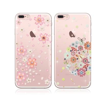 PGS施華洛世奇彩鑽iPhone 8 Plus/ 7 Plus花語水晶軟式保護殼