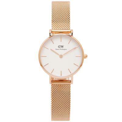 DW Daniel Wellington米蘭帶手錶(DW00100219)-白面/28mm