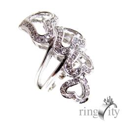 RingCity 愛心鋯石鏤空造型戒