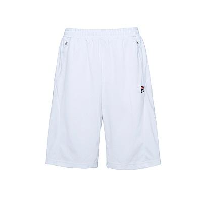 FILA 男吸濕排汗短褲-白 1SHS-1431-WT