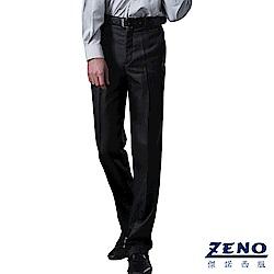 ZENO 型男時尚修身平口西裝褲‧時尚黑