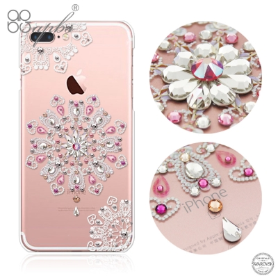 apbs iPhone8/7 Plus 5.5吋施華洛世奇彩鑽手機殼-映雪戀