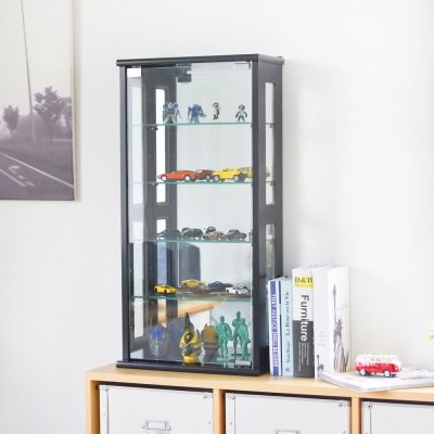 Home Feeling 直立式玻璃展示櫃/收納櫃(2色)-40x20x80cm