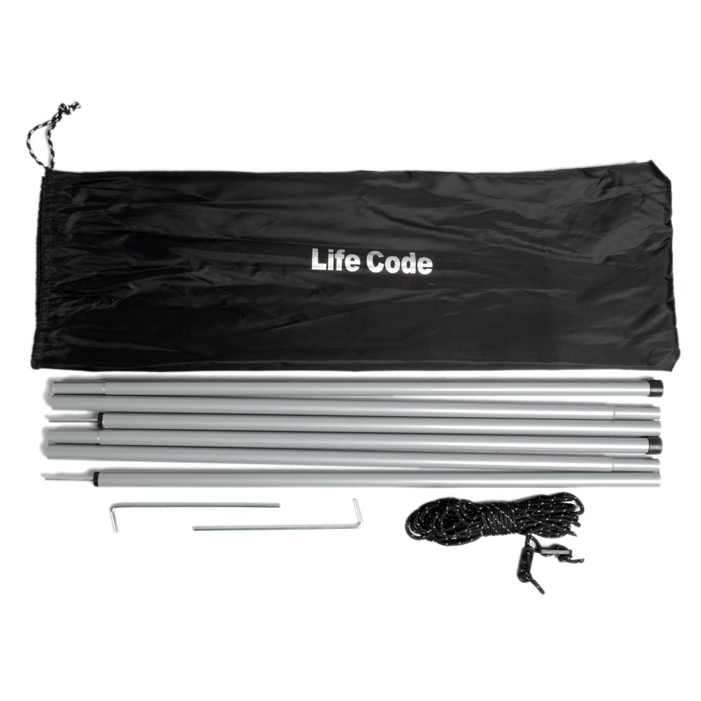LIFECODE《170CM撐桿組》(附2撐桿+2營繩+2地釘) /帳篷加購品