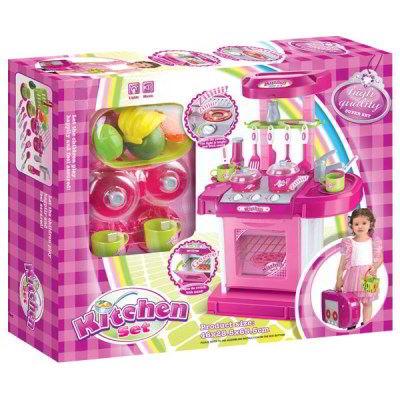Amuzinc酷比樂-家家酒系列玩具-隨行粉紅豪華聲光廚具台-MR008-56