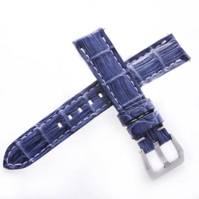 TED SU 太和錶帶 機動戰士ROLEX勞力士代用帶普魯士藍白色線-20*18mm