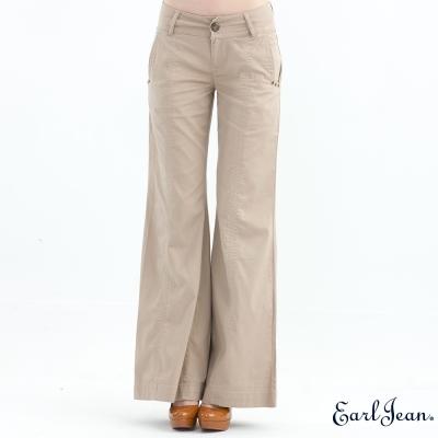 Earl Jean復古中腰大喇叭褲-米白