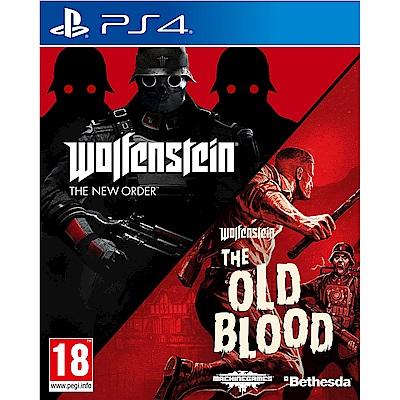 德軍總部 合輯 新秩序+舊血脈 Wolfenstein The Two-PS4 英文歐版