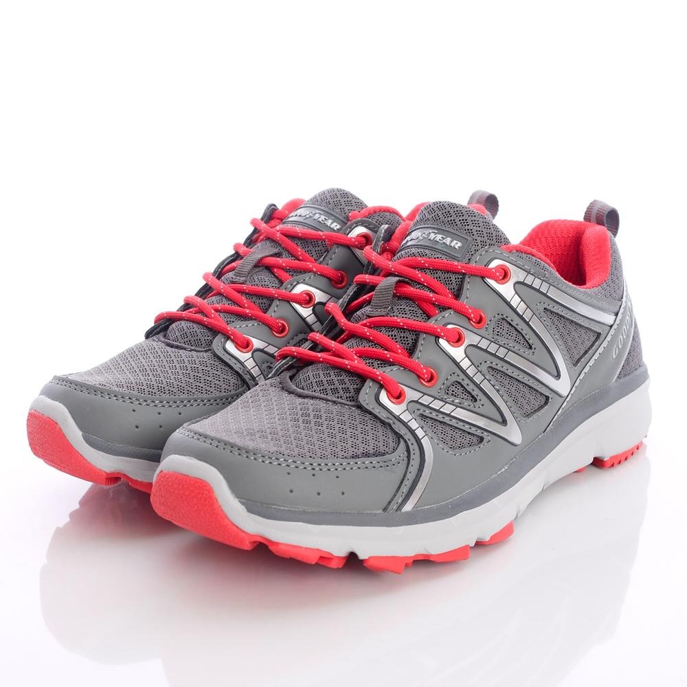 GOODYEAR戶外童鞋-輕量透氣款-42208銀紅-國中段
