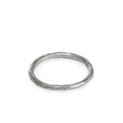Dogeared 手工波浪紋 單環戒指 925純銀