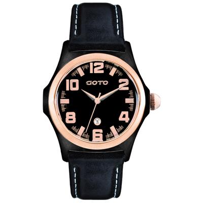 GOTO Classic系列腕錶-IP黑x玫/38.5mm