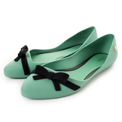Melissa 氣質甜心平底鞋-綠