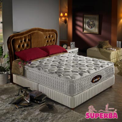 瑞士SUPERBA-Rhone三線加高硬式獨立筒床墊-雙人5尺