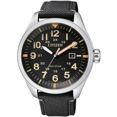 CITIZEN 星辰 硬派型格光動能腕錶(AW5000-24E)-黑/42.5mm