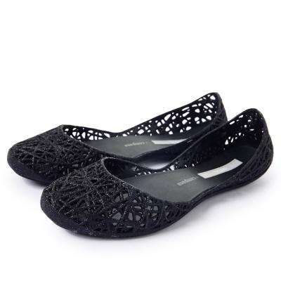 MELISSA-CAMPANA-經典炫彩鳥巢鞋-黑