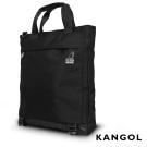 KANGOL 英式簡約商務大容量機能手提/肩背/斜背包 (黑)KG51159A