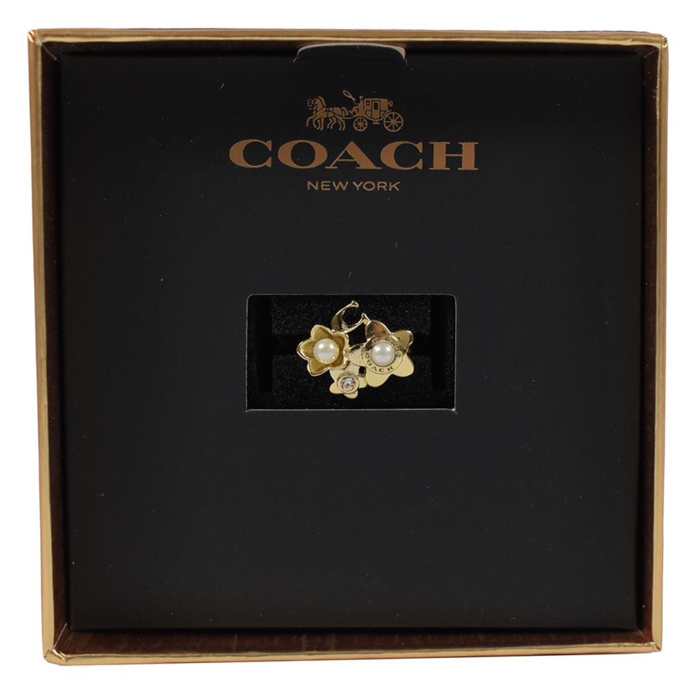 COACH 珠珠花朵造型戒指COACH